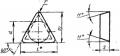 Трехгранной формы с задним углом - ГОСТ 19045-80
