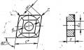 Ромбической формы с отверстием, стружколомом и углом 80град. - ГОСТ 19059-80