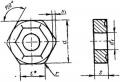 Шестигранной формы с отверстием и стружколомом - ГОСТ 19068-80