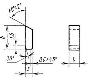 Пластина твердосплавная для пил и фрез - 3001-0004-Т30К4