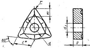 Пластина твердосплавная сменная - 02114-080404-Т14К8