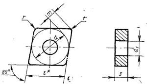 Пластина твердосплавная сменная - 05113-120412-ВК6