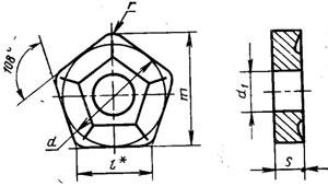 Пластина твердосплавная сменная - 10114-110416-ВК6