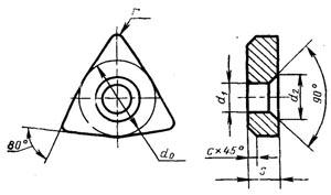 Пластина твердосплавная опорная сменная - 711-1004-ВК15