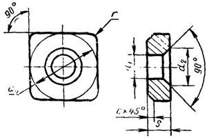 Пластина твердосплавная опорная сменная - 721-1204-ВК15