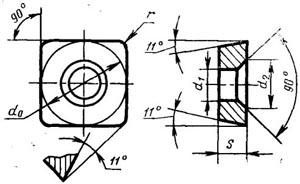 Пластина твердосплавная опорная сменная - 723-1504-ВК15