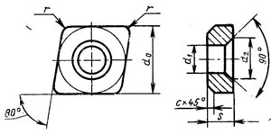 Пластина твердосплавная опорная сменная - 731-1604-ВК15