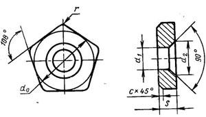 Пластина твердосплавная опорная сменная - 751-0603-ВК15