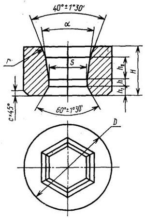 Волок-заготовка твердосплавный для волочения шестигранных прутков и труб круглого сечения - 1980-0415-ВК15