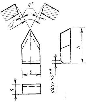 Пластина твердосплавная напаиваемая - 23090-Т15К6