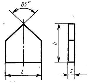 Пластина твердосплавная напаиваемая - 17110-Т5К10
