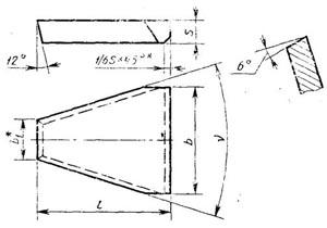 Пластина твердосплавная напаиваемая - 32190-ВК8