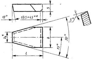 Пластина твердосплавная напаиваемая - 48010-Т15К6