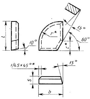 Пластина твердосплавная напаиваемая - 49010-Т5К10