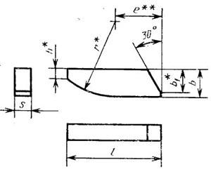 Пластина твердосплавная напаиваемая - 25190-ВК10-ХОМ