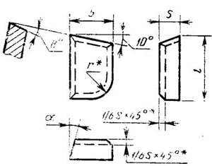 Пластина твердосплавная напаиваемая - 07010-Т30К4